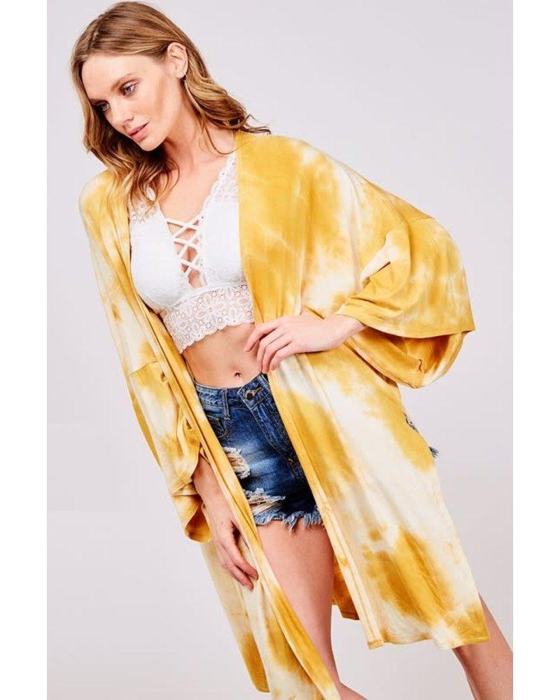 Vine & Love Vine & Love Kimono Tie Dye