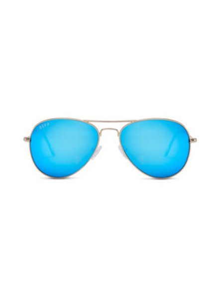 DIFF DIFF Cruz Gold/Blue Mirror NON POLARIZED