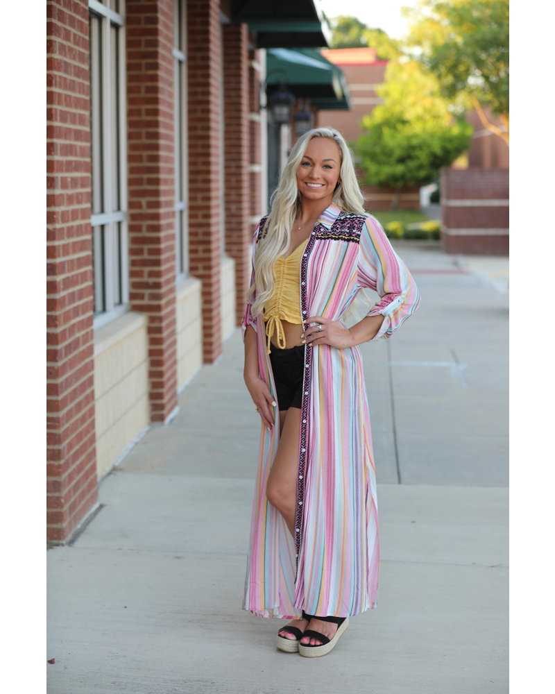 Wendy WEN Multi Colored Dress/Duster