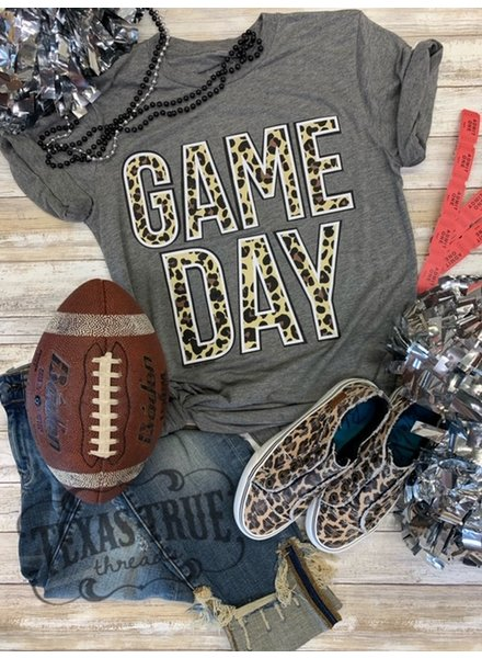 Texas True Threads GAMEDAY Leopard/Glitter Shirts