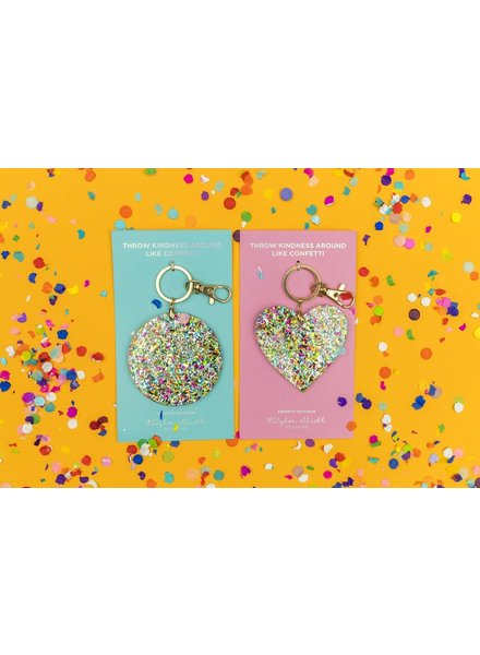 Taylor Confetti Keychain Heart or Circle