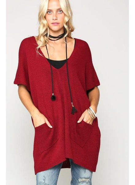 Kyemi Kyemi Burgundy Pocket Tunic
