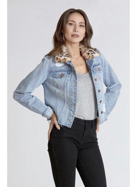 Dear John Alyssa Denim Jacket Fur Collar