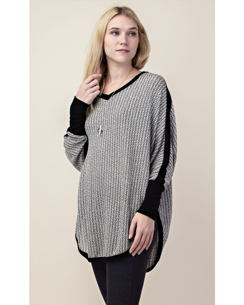 Wendy WEN Taupe Long Sleeve Dolman Top