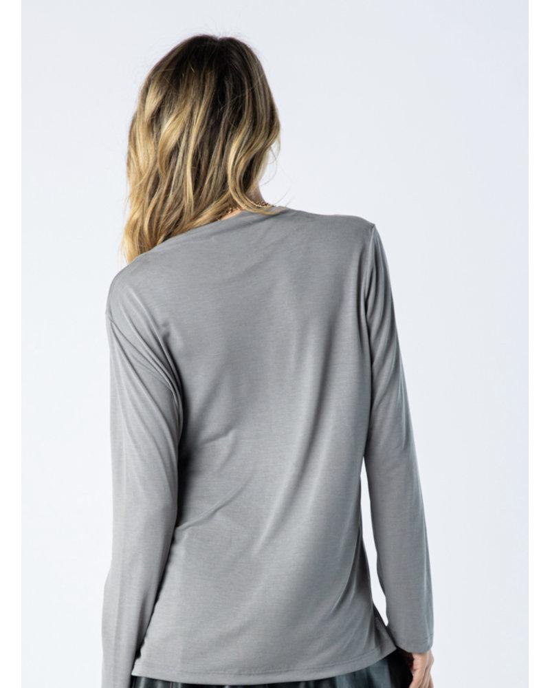 Wendy WEN V Neck Long Sleeve Top