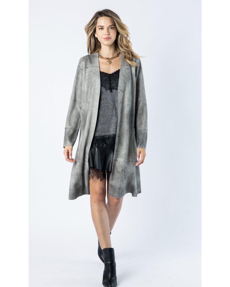 Wendy WEN Grey Long Jacket
