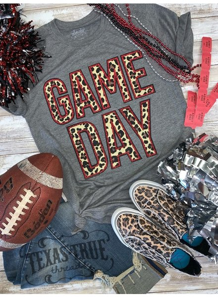 Texas True Threads GAMEDAY Glitter/Leopard Crimson/Red