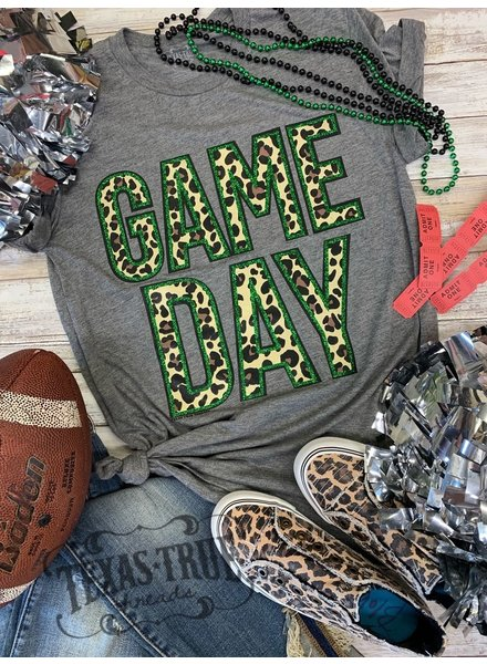 Texas True Threads GAMEDAY Glitter/Leopard Green