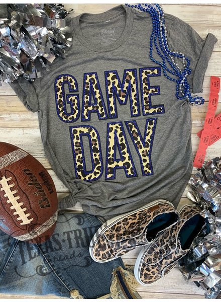 Texas True Threads GAMEDAY Glitter/Leopard Blue