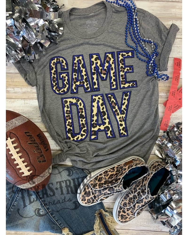 Texas True Threads GAMEDAY Glitter/Leopard Blue