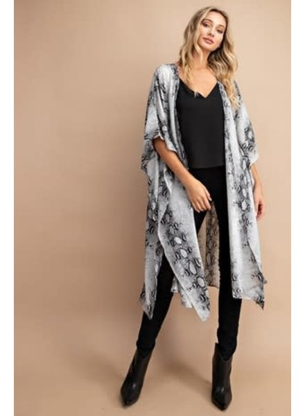 Easel Easel Grey Python Kimono