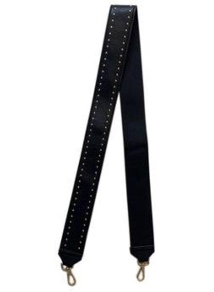 Ahdorned Ah Dorned Bag Strap Black Silver Stud