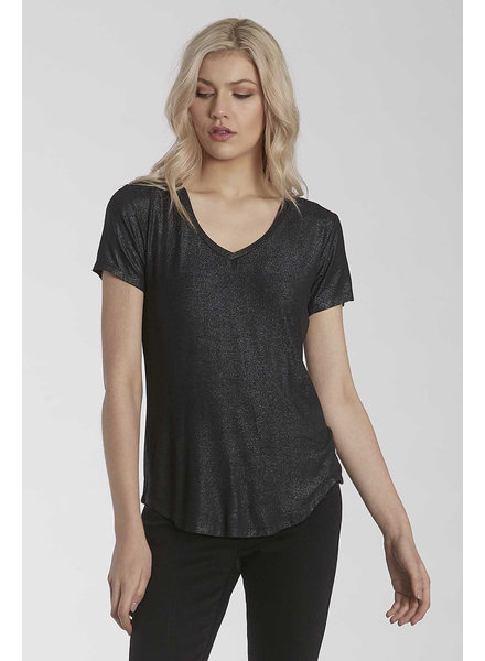 Another Love Another Love Black Shimmer Tee
