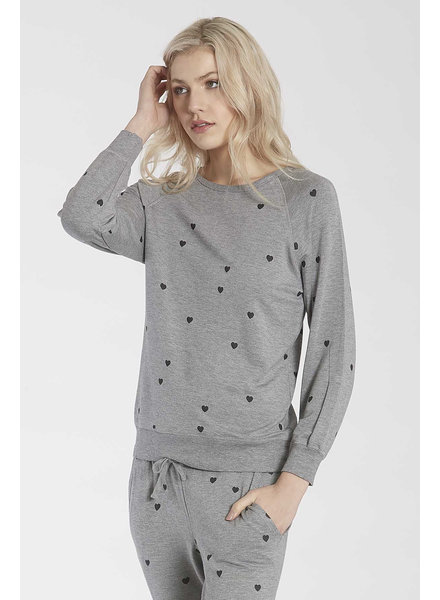 Another Love Another Love Grey Sweatshirt Hearts