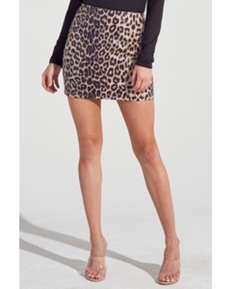 Blue Blush Blue Blush Leopard Skirt
