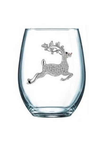 Cork Pops Cork Pops Stemless Glass Reindeer