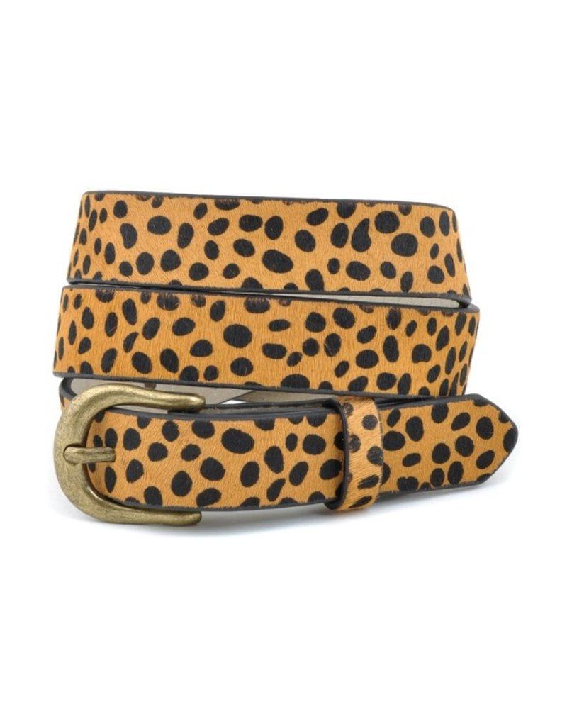 Anzell Cheetah Tan Skinny Belt