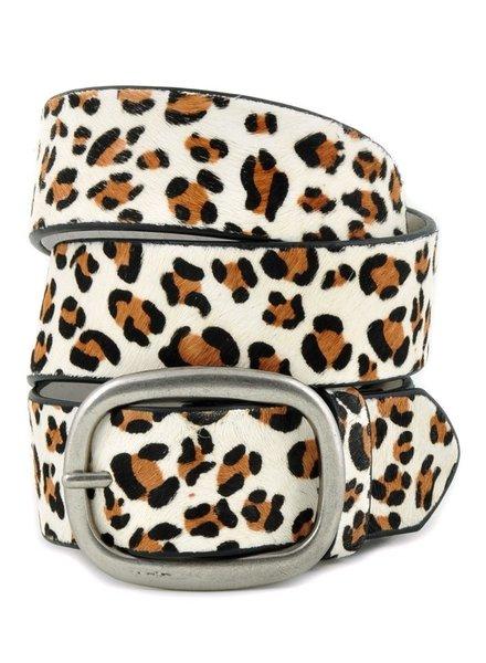Anzell Ivory Leopard Belt