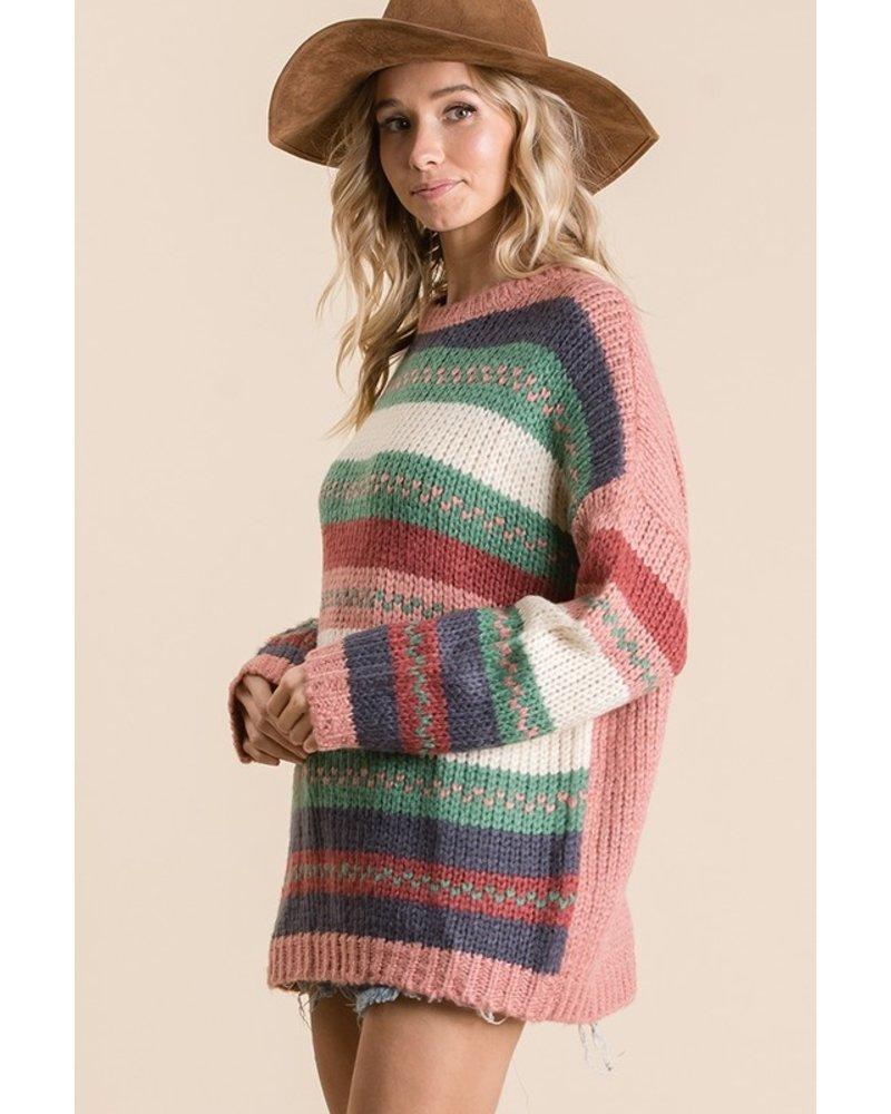 Ces Femmes Ces Femme Multi Striped Sweater