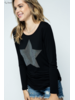Wendy WEN Shiny Star Top Black