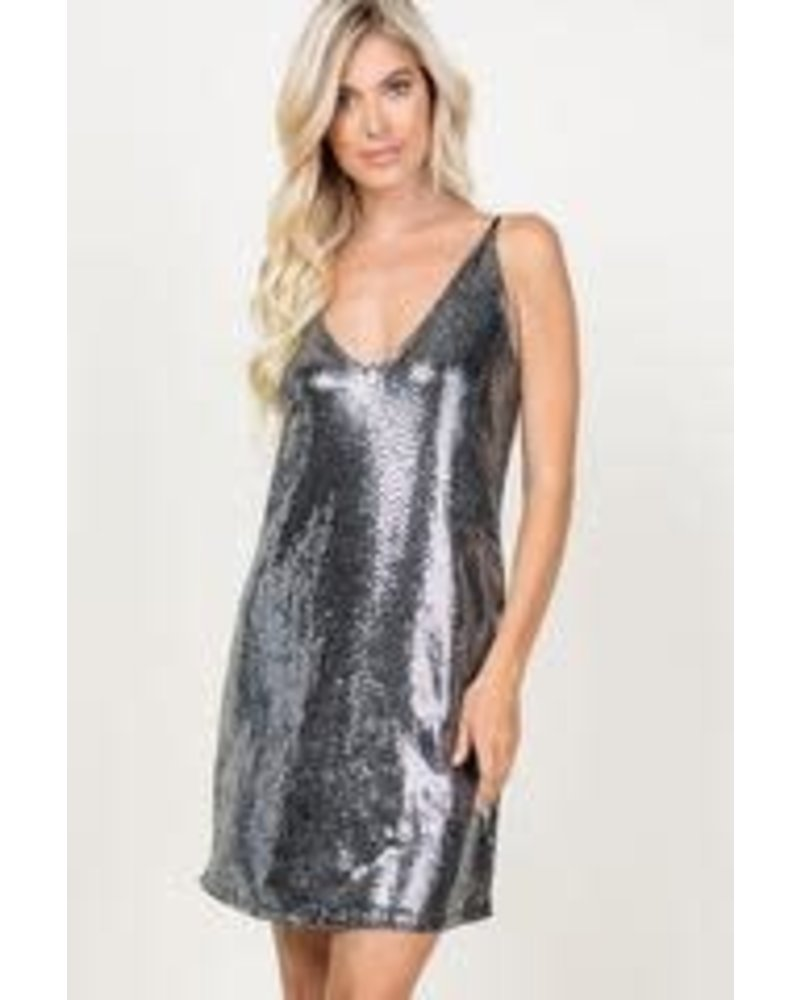 Young at Heart Young at Heart Sequins Dress Silver