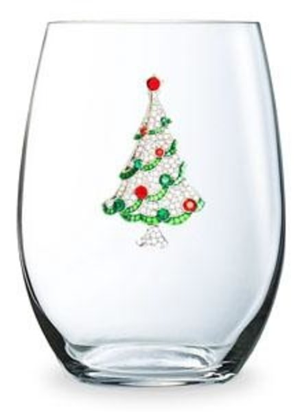 Cork Pops Cork Pops Stemless Glass Christmas Tree