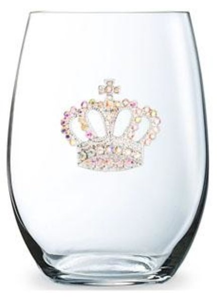 Cork Pops Stemless Glass Crown