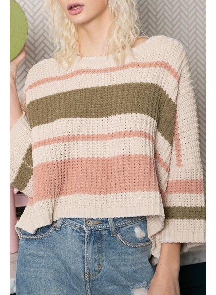 POL POL Striped Sweater Multi