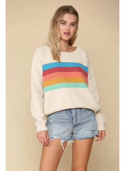 By Together By Together Clay Striped Multi Shirt