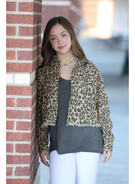 EEsome Eesome Leopard Cropped Jacket