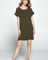 Wendy WEN Round Neck TShirt Dress