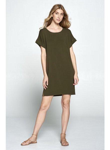 Wendy WEN Round Neck TShirt Dress