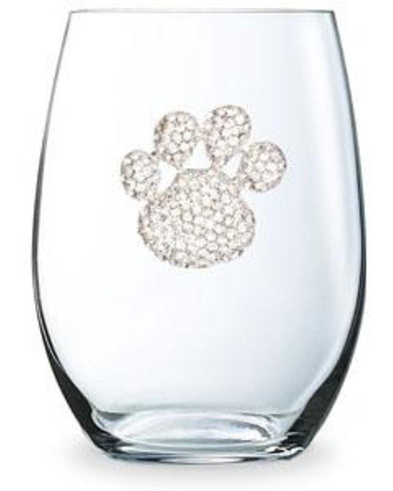 Cork Pops Cork Pops Stemless Glass Paw Print