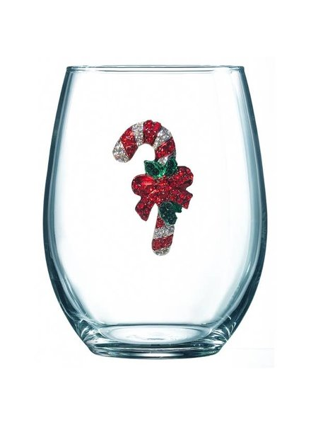 Cork Pops Cork Pops Stemless Glass Candy Cane