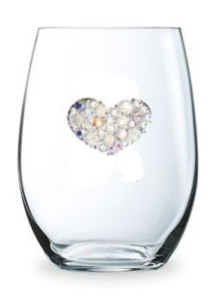 Cork Pops Cork Pops Stemless Glass Heart