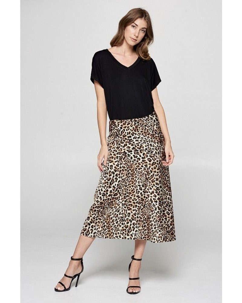 Wendy WEN Midi Leopard Skirt