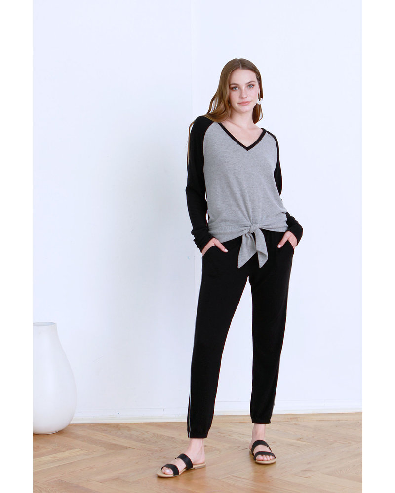 Another Love Another Love Kal Tie Top Black/Grey