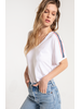 Others Follow Others Follow America Striped Tee White