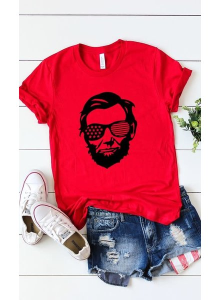 Kissed Apparel Kissed Abe Lincoln Red Tee