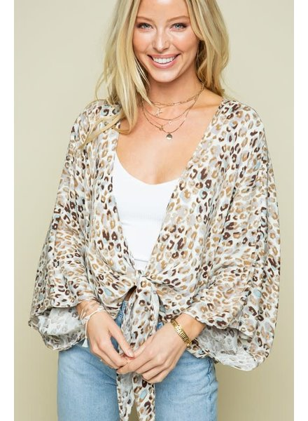 Style Rack Animal Printed Tie Top Neutral