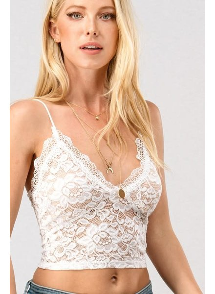 Trend Notes Trend Notes Lace Cami Ivory