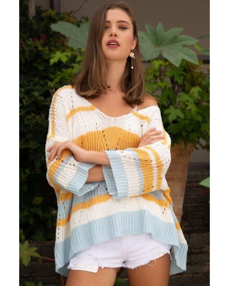 POL POL Lightweight Striped Sweater