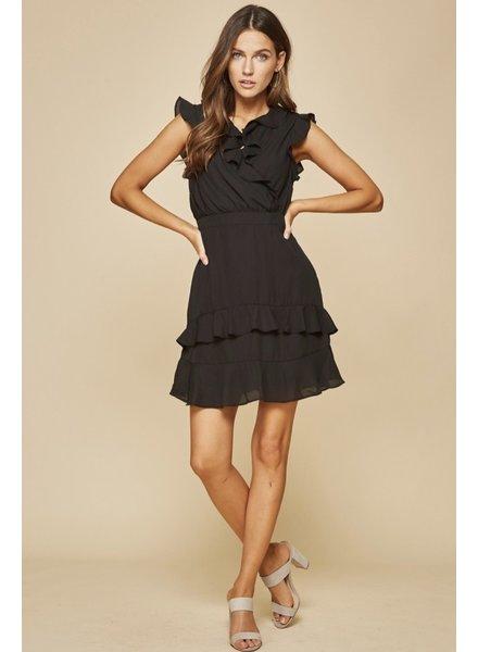 Wendy WEN Wrap Dress Black