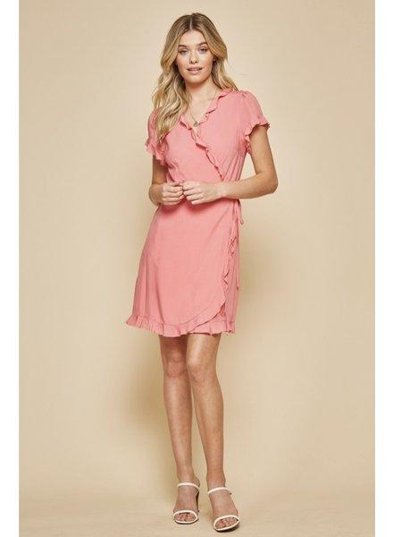 Wendy WEN Pink Wrap Dress