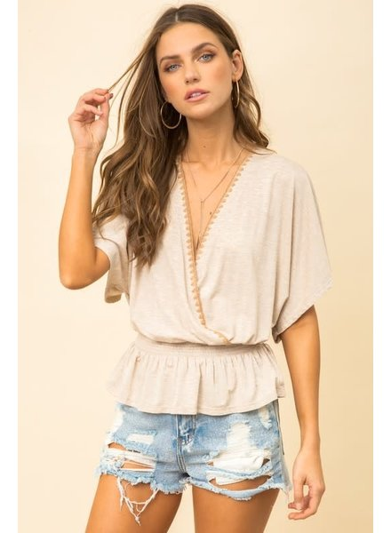 Hem & Thread Hem & Thread Criss Cross Trim Top