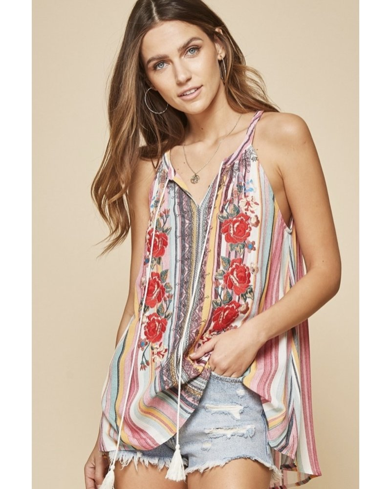 Wendy WEN Multi Embroidery Top