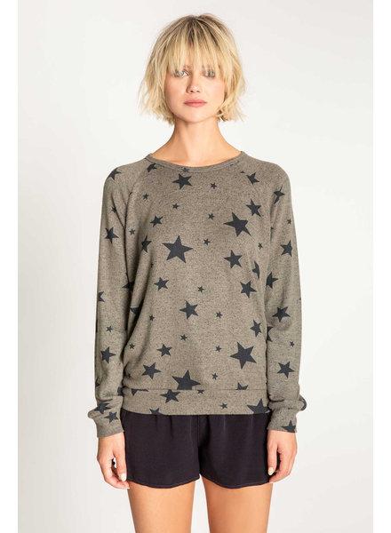 PJ Salvage PJ Salvage Star Sweatshirt Olive