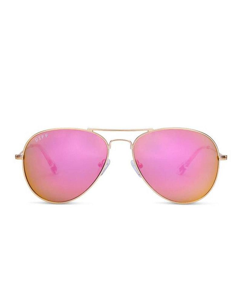 DIFF DIFF Cruz Pink/Gold Mirror NON POLARIZED