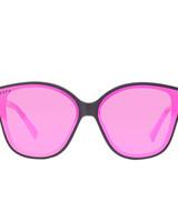DIFF DIFF Piper Matte Black Pink Mirror POLARIZED