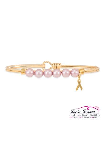 LUCA & DANNI Luca & Danni Pearl Pink Breast Cancer Bracelet